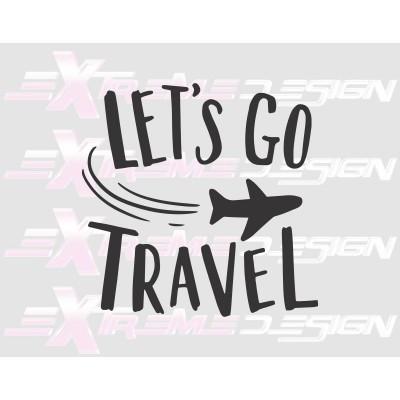 Nalepka Let's go travel