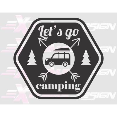 Nalepka Let's go campings
