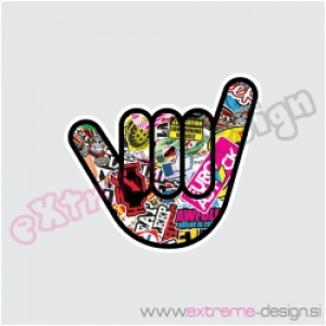 Nalepka Bombsticker hand 1