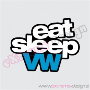 Nalepka Eat sleep vw