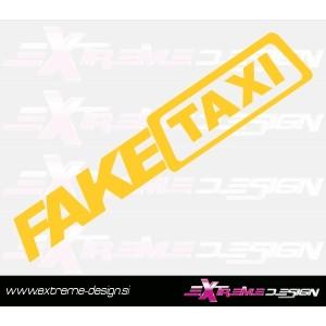Nalepka fake taxi