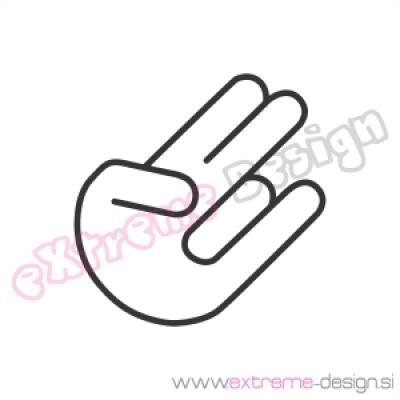 Nalepka Shocker hand 1