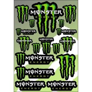 Komplet nalepk A4 monster