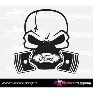 Nalepka Ford lobanja