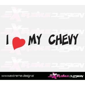 Nalepka i love chevy