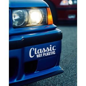 Nalepka Classic not Plastic