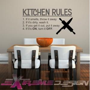 Stenska Nalepka Kitchen rules