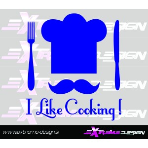 Wall Sticker I like cooking!
