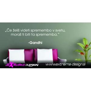 Stenska Nalepka citat Gandhi (slovenski)