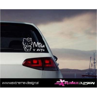 Nalepka Otrok v avtu -  Hello Kitty
